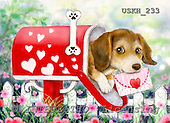 Kayomi, CUTE ANIMALS, paintings, Puppy_Mailbox_M, USKH233,#ac# illustrations, pinturas ,everyday