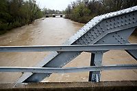 NWA Democrat-Gazette/DAVID GOTTSCHALK The West Fork of the White River is visible Thursday, March 29, 2018, flowing under U.S. Hwy. 71 south of Greenland from the Old Woolsey Bridge. The weather forecast calls for clear skies on Friday with clouds and rain returning to the area Saturday.