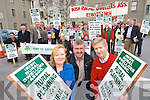 Pictured at a protest at kerry county council on Monday Were Bridget O'Connor, Irish Rural Dwellers Association, John Stack,  IFA and Tom Randles Killgarvan   Copyright Kerry's Eye 2008