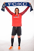 Leawood, Kansas - Thursday, April 13, 2017: Nicole Barnhart at the FC Kansas City player studio photoshoot at the FCKC Headquarters.