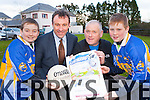 Launching Leathering the Tar family fun day out in aid of Glenflesk Coiste na nóg which will be held in the Kerry Way Glenflesk om St Stephens day were l-r:Stephen Moynihan, Rory Darcy, Sean and Eoin Moynihan