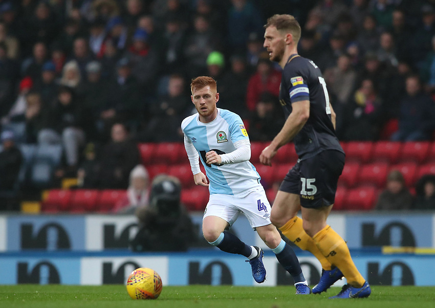Blackburn Rovers' Harrison Reed and <br /> <br /> Photographer Rachel Holborn/CameraSport<br /> <br /> The EFL Sky Bet Championship - Blackburn Rovers v Sheffield Wednesday - Saturday 1st December 2018 - Ewood Park - Blackburn<br /> <br /> World Copyright © 2018 CameraSport. All rights reserved. 43 Linden Ave. Countesthorpe. Leicester. England. LE8 5PG - Tel: +44 (0) 116 277 4147 - admin@camerasport.com - www.camerasport.com