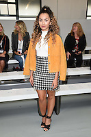 Ella Eyre<br /> at the Jasper Conran catwalk show as part of London Fashion Week SS17, Brewer Street Car Park, Soho London<br /> <br /> <br /> &copy;Ash Knotek  D3155  17/09/2016