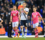 Tottenham's Harry Kane celebrates at the final whistle during the Premier League match at White Hart Lane Stadium.  Photo credit should read: David Klein/Sportimage