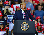Feb 02 21 Las Vegas Trump's Keep America Great Rally. President Donald Trump during campaign rally at Las Vegas Convention Center on February 21, 2020 in Las Vegas, Nevada. The  Nevada Democratic presidential caucus will be held February 22)