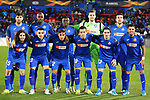 Getafe CF's team photo with Leandro Cabrera, Allan Nyom, Djene Dakoman, David Soria, Jaime Mata, Marc Cucurella, Mauro Arambarri, Damian Suarez, Nemanja Maksimovic, Jason Remeseiro and Angel Rodriguez during UEFA Europa League match. December 12,2019. (ALTERPHOTOS/Acero)