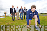 Pictured at the launch of the Kerry's Eye Tralee International Marathon, at the Tralee Bay Wetlands Centre on Tuesday in foreground is Marcus Howlett (Race Director Tralee Marathon) and back from left: Martin Fitzgerald (Chairperson Tralee Harriers), Brendan Kennelly (Sales & Marketing Director Kerry's Eye Newspaper), Michael Godley (Timekeeper Tralee Marathon) and Jim O'Gorman (Sports Editor Kerry's Eye Newspaper).
