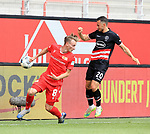 27.06.2020, Stadion an der Wuhlheide, Berlin, GER, DFL, 1.FBL, 1.FC UNION BERLIN  VS. Fortuna Duesseldorf , <br /> DFL  regulations prohibit any use of photographs as image sequences and/or quasi-video<br /> im Bild Joshua Mees (1.FC Union Berlin #8), Steven Skrzybski (Fortuna Duesseldorf #20)<br /> <br /> <br />      <br /> Foto © nordphoto / Engler