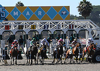 The start of Harry F. Brubaker Stakes at Del Mar Race Course in Del Mar, California on September 1, 2012.
