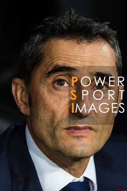 Ernesto Valverde FC Barcelona head coach during their La Liga 2018-19 match between Valencia CF and FC Barcelona at Estadio de Mestalla on October 07 2018 in Valencia, Spain. Photo by Maria Jose Segovia Carmona / Power Sport Images