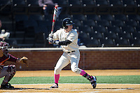 Kevin Conway (7) of the Wake Forest Demon Deacons at bat against the Virginia Tech Hokies at Wake Forest Baseball Park on March 7, 2015 in Winston-Salem, North Carolina.  The Hokies defeated the Demon Deacons 12-7 in game one of a double-header.   (Brian Westerholt/Four Seam Images)