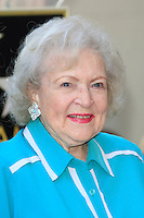 LOS ANGELES - AUG 22: Betty White at a ceremony where Valerie Bertinelli is honored with a star on the Hollywood Walk of Fame on August 22, 2012 in Los Angeles, California