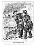 """The British Blockade. """"Their ships look bigger than ever, Raeder. Ther muse be something wrong with our telescope."""""""