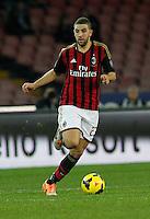 Adel Taarabt  durante l'incontro di calcio di Serie A  Napoli Milan allo  Stadio San Paolo  di Napoli , 08 Febbraio 2014<br /> Foto Ciro De Luca