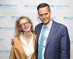 Vivienne Benesch and Davis McCallum attends the SDC Foundation Awards on October 30, 2017 at The Green Room 42 in New York City.