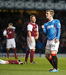 David Templeton celebrates his goal for Rangers