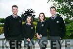 At the Gaelcholáiste Chiarraí  annual Awards night in Ballygarry House Hotel on Thursday were Ciaran O'Brian, Zoe Ní Riordáin, Caoimhe Ní Mhuircheartaigh and Sean O Dugain