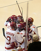 Troy Terry (DU - 19), Tariq Hammond (DU - 3), Michael Davies (DU - 21), Jarid Lukosevicius (DU - 14), Dylan Gambrell (DU - 7) - The University of Denver Pioneers defeated the University of Minnesota Duluth Bulldogs 3-2 to win the national championship on Saturday, April 8, 2017, at the United Center in Chicago, Illinois.