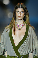 A model presents a creation by Rocabert during the Pasarela Cibeles fashion show 2005, February 17, 2005 in Madrid. Photo by Victor Fraile / studioEAST