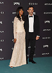 LOS ANGELES, CA - NOVEMBER 07: Model Naomi Campbell (L) and designer Riccardo Tishi attend LACMA 2015 Art+Film Gala Honoring James Turrell and Alejandro G Iñárritu, Presented by Gucci at LACMA on November 7, 2015 in Los Angeles, California.