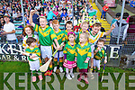Young Kilmoyley fans at the County Senior Final at Austin Stack Park Tralee on Sunday.
