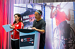 NOVEMBER 22, 2019: Vancouver, BC - ParaTough Cup was held at the Richmond Olympic Oval, with Paralympian Shacarra Orr and CTV Morning Live's Jason Pires as co-emcees, and 12 corporate teams competing for the prize.