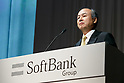 SoftBank Chairman and CEO Masayoshi Son attends a press conference on May 10, 2017, Tokyo, Japan. SoftBank reported a valuation loss of 160,419 million yen ($1.4 billion) on cab-hailing app Ola and e-commerce marketplace Snapdeal, two of its flagships investments in India, when announcing its annual financial results for the fiscal year ending March 31, 2017. (Photo by Rodrigo Reyes Marin/AFLO)