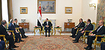 Egyptian President Abdel Fattah al-Sisi meets with Russian Foreign Minister Sergei Lavrov, in Cairo on April 6, 2019. Photo by Egyptian President Office