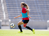 Denver, CO - September 12, 2017: The USWNT trains in preparation for their friendly against New Zealand.