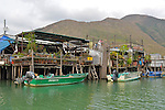 Hong Kong, Lantau Island, Big Buddha  Tai O, on Lantau Island near Hong Kong is a fishing village built on stilts on a tidal estuary.