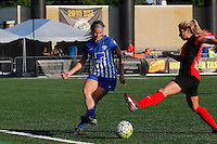Rochester, NY - Friday June 24, 2016: Boston Breakers defender Christen Westphal (21) during a regular season National Women's Soccer League (NWSL) match between the Western New York Flash and the Boston Breakers at Rochester Rhinos Stadium.