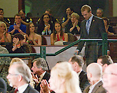 Spencer Abbott (Maine) is introduced as he enters the auditorium. - The 2012 Hobey Baker Award ceremony was held at MacDill Air Force Base on Friday, April 6, 2012, in Tampa, Florida.