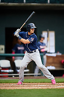 New Hampshire Fisher Cats catcher Max Pentecost (7) at bat during the second game of a doubleheader against the Harrisburg Senators on May 13, 2018 at FNB Field in Harrisburg, Pennsylvania.  Harrisburg defeated New Hampshire 2-1.  (Mike Janes/Four Seam Images)