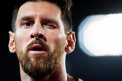 9th September 2017, Camp Nou, Barcelona, Spain; La Liga football, Barcelona versus Espanyol; Leo Messi  of FC Barcelona close up during a corner