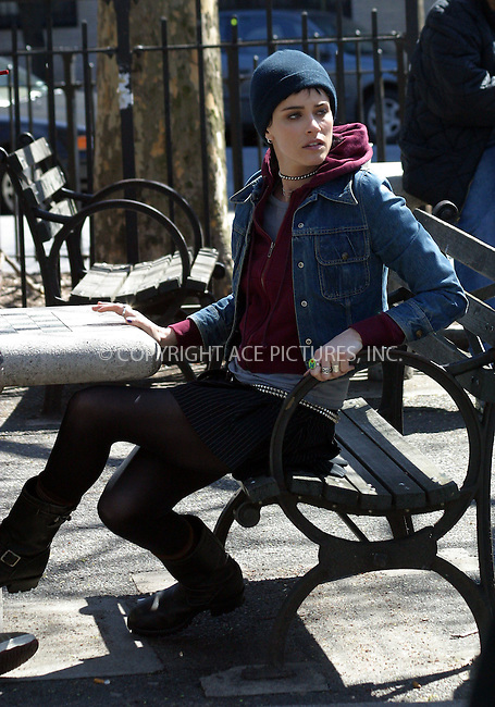 "Ashton Kutcher and Amanda Peet were on location on the streets of New York City during the filming of ""A Lot Like Love"". In the movie they play a young couple who find love at the wrong time in their lives. April 15 2004. Please byline: Brian Flannery/ACE Pictures.   ..*PAY-PER-USE*      ....IMPORTANT: Please note that our old trade name, NEW YORK PHOTO PRESS (NYPP), is replaced by our new name, ACE PICTURES. New York Photo Press and ACE Pictures are owned by All Celebrity Entertainment, Inc.......All Celebrity Entertainment, Inc:  ..contact: Alecsey Boldeskul (646) 267-6913 ..Philip Vaughan (646) 769-0430..e-mail: info@nyphotopress.com"