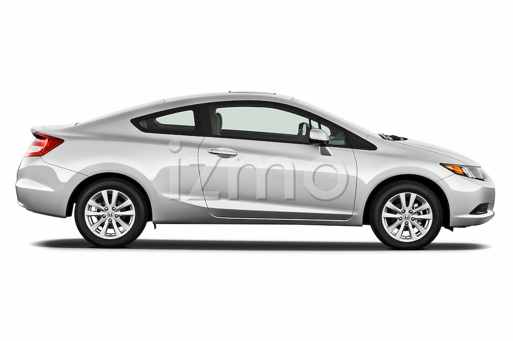 passenger side profile view of a 2012 Honda Civic Coupe EX .
