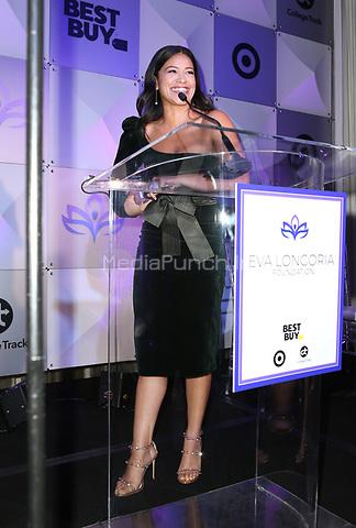 LOS ANGELES, CA - NOVEMBER 8: Gina Rodriguez, at the Eva Longoria Foundation Dinner Gala honoring Zoe Saldana and Gina Rodriguez at The Four Seasons Beverly Hills in Los Angeles, California on November 8, 2018. Credit: Faye Sadou/MediaPunch