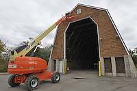 CT-DOT Orange Salt Shed Rehabilitation Project. No. 0106-0123. Construction Progress Views, 6th and Final Photo Shoot