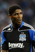 Khari Stephenson San Jose Earthquakes forward... Sporting KC defeated San Jose Earthquakes 1-0 at LIVESTRONG Sporting Park, Kansas City, Kansas.