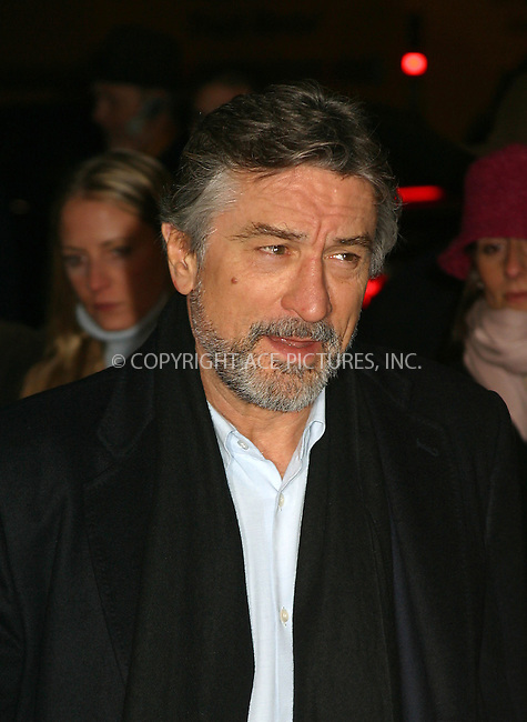 "Robert De Niro arriving at the World Premiere of ""Analyze That"" in New York. December 12, 2002. Please byline: Alecsey Boldeskul/NY Photo Press.   ..*PAY-PER-USE*      ....NY Photo Press:  ..phone (646) 267-6913;   ..e-mail: info@nyphotopress.com"