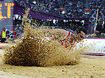 Olympic Games 2012; Long Jump qualification. Luis Rivera (MEX).