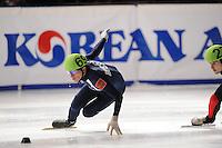 SCHAATSEN: DORDRECHT: Sportboulevard, Korean Air ISU World Cup Finale, 10-02-2012, Viacheslav Kurginian RUS (69), ©foto: Martin de Jong