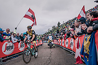 Robert Gesink (NED/LottoNL-Jumbo) up the infamous Monte Zoncolan (1735m/11%/10km)<br /> <br /> stage 14 San Vito al Tagliamento &ndash; Monte Zoncolan (186 km)<br /> 101th Giro d'Italia 2018