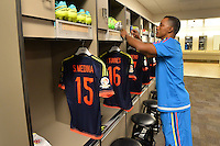 Santa Clara, CA - Friday June 03, 2016: Colombia locker room prior to a Copa America Centenario Group A match between United States (USA) and Colombia (COL) at Levi's Stadium.
