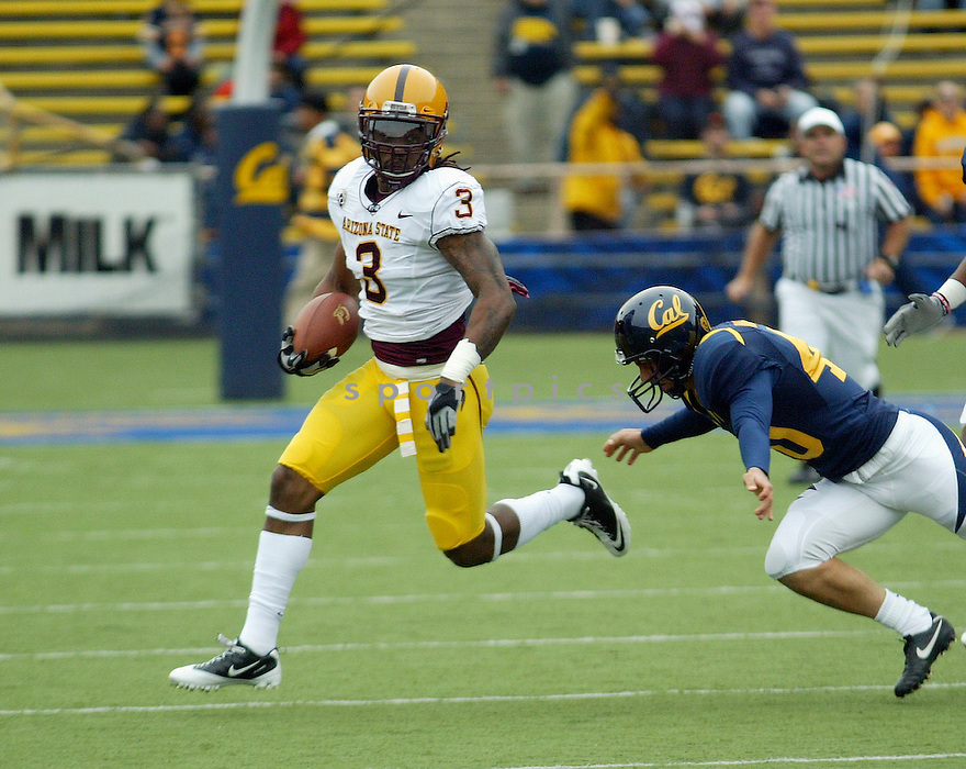 OMAR BOLDEN, of the Arizona State Sun Devils , in action during the Sun Devils game against the California Golden Bears at Memorial Stadium  on October 23, 2010  in Berkley, California...California Golden Bears  beats the Arizona State Sun Devils 50-17.