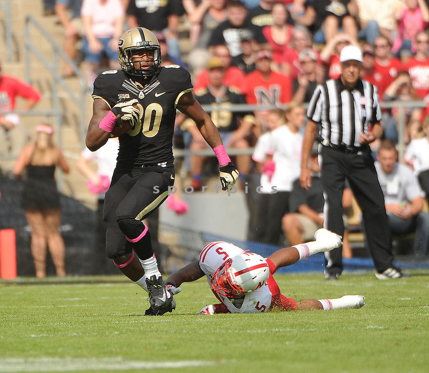 Purdue Boilermakers DeAngelo Yancey (80) during a game against the Nebraska Cornhuskers on October 12, 2013 at Ross-Ade Stadium in West Lafayette, IN. Nebraska beat Purdue 44-7.