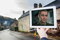 Pictured: Filming of War Horse in Castle Combe, Wiltshire<br />