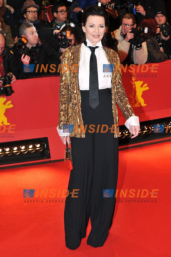 Iris Berben. Berlin 08/02/2013. 63th Berlinale Opening Gala Red Carpet. foto Mark Cape/Insidefoto
