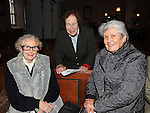 Wilma Crothers, Mary Shirley and Lorna Jeffers pictured at the Harvest thanksgiving service at St Mary's Abbey Ardee. Photo: www.pressphotos.ie