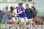 Lixnaw players celebrate after they defeated Kilmoyley in the County Senior Hurling final at Austin Stack Park on Saturday.